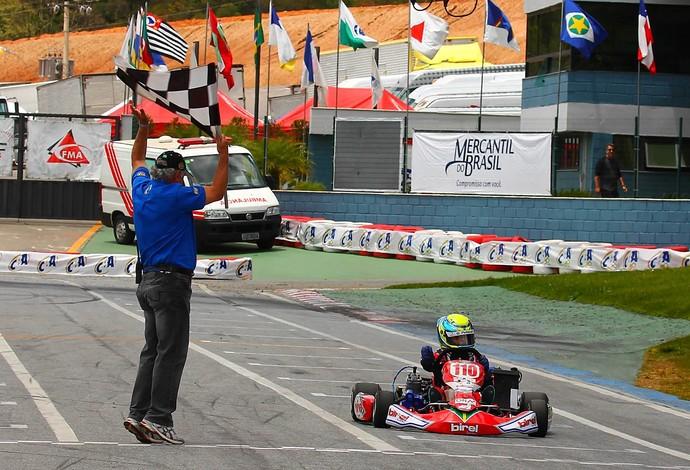 Gianluca Petecof foi campeão da Copa Brasil de Kart no ano passado (Foto: Divulgação)