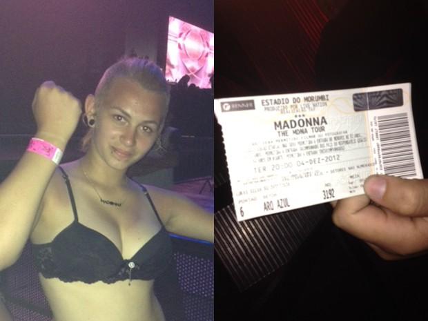 Adolescente voltará ao Morumbi hoje para assistir ao show novamente  (Foto: Lívia Machado/G1)