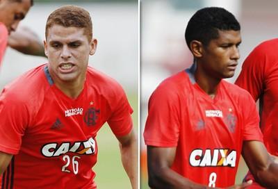 Matéria Cuellar e Márcio Araújo Flamengo  (Foto: GloboEsporte.com)