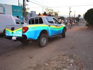 Polícia Militar em Cacoal, RO (Foto: Rogério Aderbal/G1)