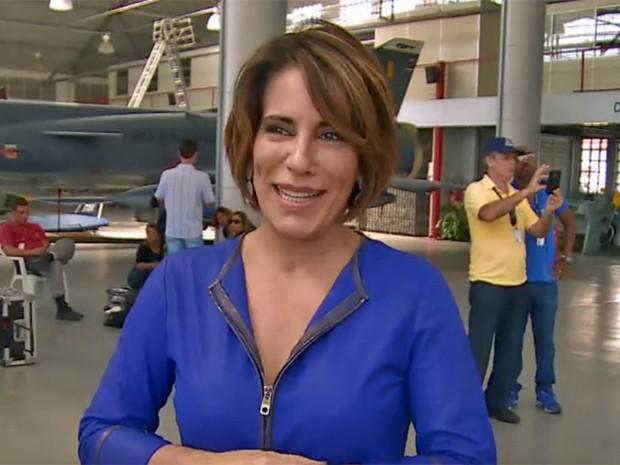 Gloria Pires nos bastidores de Babilônia (Foto: Vídeo Show / TV Globo)