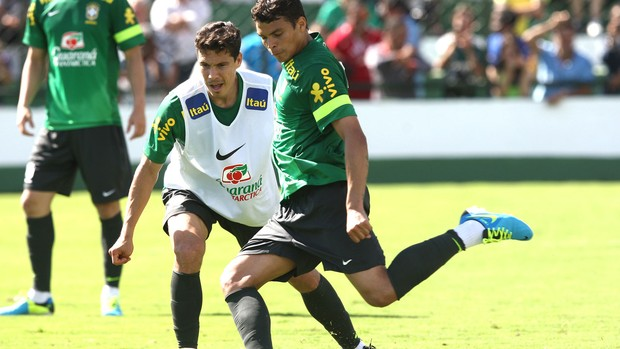 Thiago Silva, Treino Seleção Brasileira (Foto: Bruno Domingos / Mowa Press)