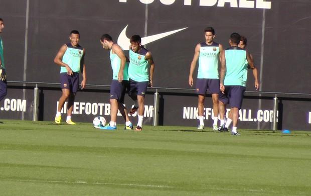 neymar barcelona treino (Foto: Cláudia Garcia)