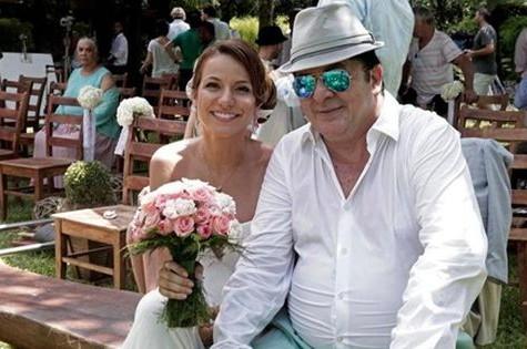 Mina Nercessian com o tio Stepan  (Foto: Divulgação)