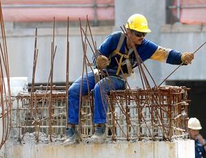 Visitação Obras Maracanã, Operarios (Foto: Alexandre Durão / Globoesporte.com)