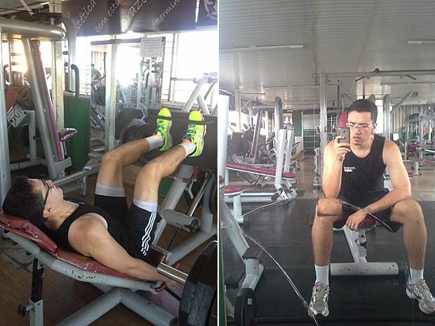 Silom Brandão vai à academia seis vezes por semana, durante 1h30 a 2h (Foto: Arquivo pessoal)