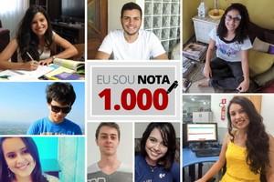 Estudantes 'nota 1.000' na redação do Enem revelam sucesso (Editoria de Arte/G1)