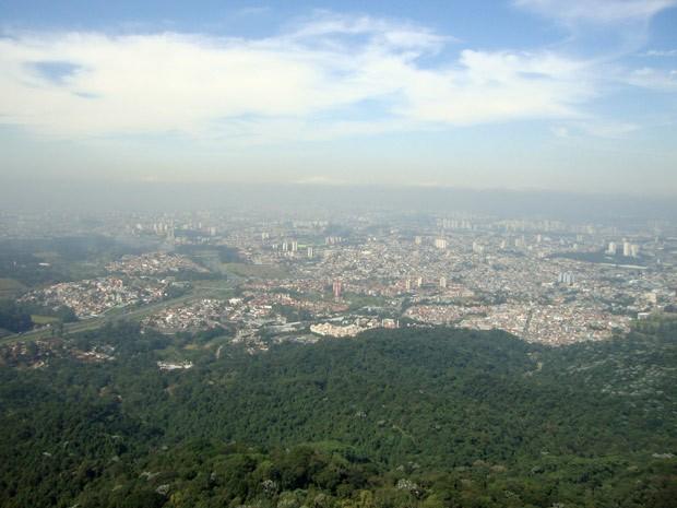 Vista da cidade de São Paulo a partir do Pico do Jaraguá, na Zona Oeste de SP (Foto: Rodrigo dos Santos Colem/VC no G1)