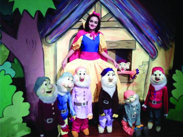 Branca de Neve e os Sete Anões produzido pela Cia. Brittos Produções, (Foto: Vera Pierroni / Arquivo Pessoal)