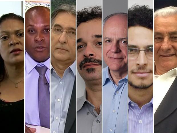 Candidatos ao governo de Minas Gerais (Foto: Arte/G1)
