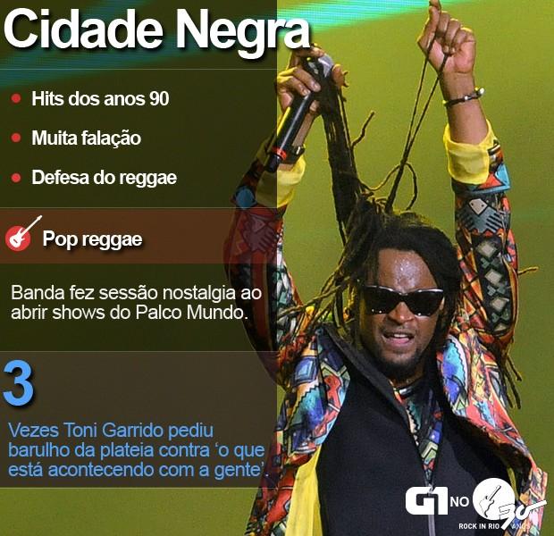 Cidade Negra faz show no Palco Mundo do Rock in Rio neste domingo (27) (Foto: Alexandre Durão/G1)