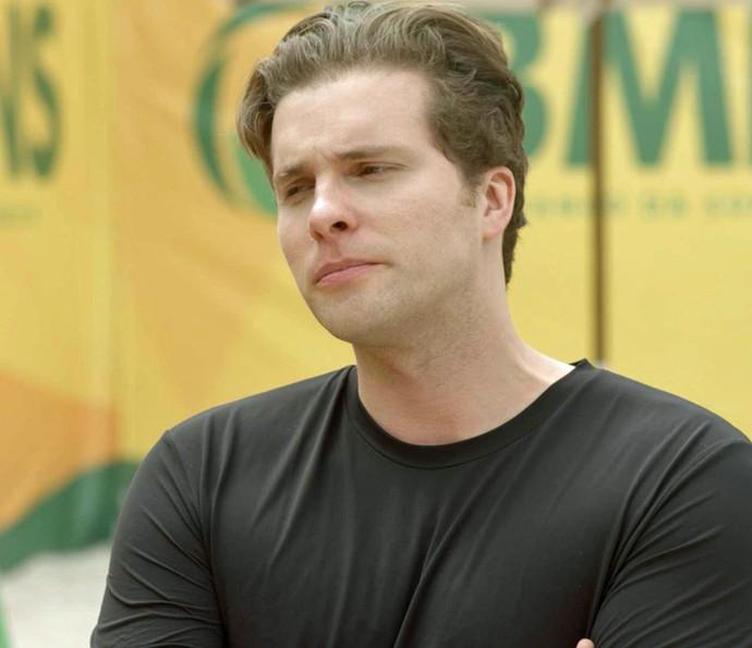 Caio não poupa a bronca: 'Se não fosse você, a gente não vencia' (Foto: TV Globo)