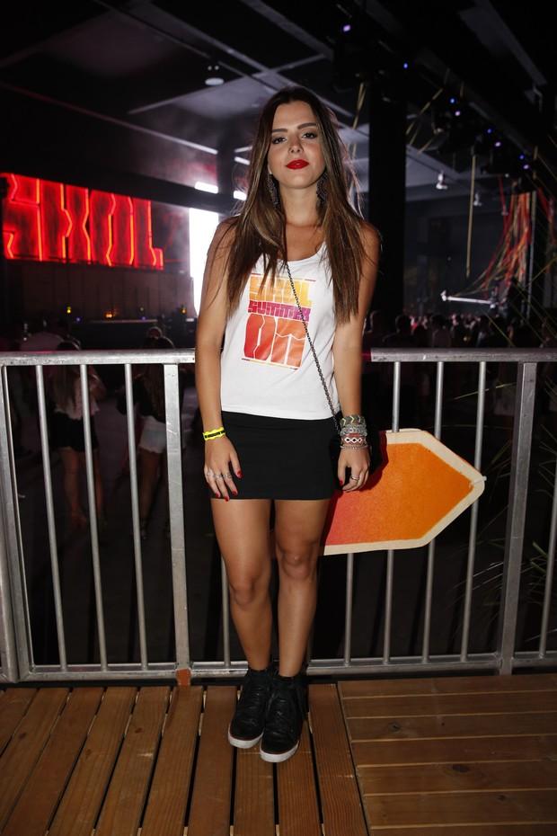 Giovanna Lancellotti em evento de música eletrônica (Foto: Felipe Panfili / AgNews)