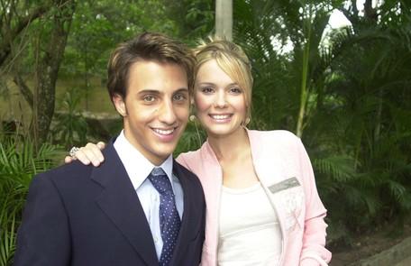 Com Caio Fleischmann na sua primeira passagem por 'Malhação', em 2004 Gianne Carvalho/ TV Globo