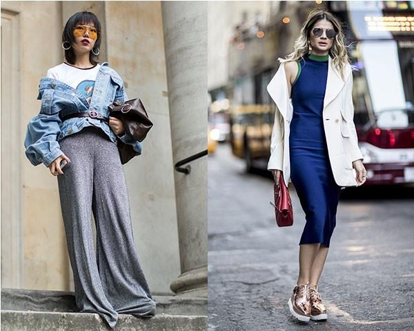A dica combina com looks com vestidos ou cal�as (Foto: Imaxtree)