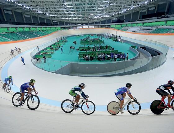 Velódromo que vai ser usado na Olimpíada do Rio (Foto: Roberto Castro/ME)