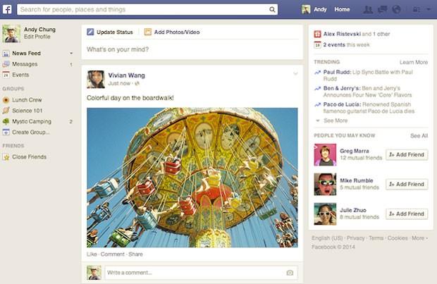 Facebook atualiza e muda visual do Feed de Notícias (Foto: Divulgação/Facebook)