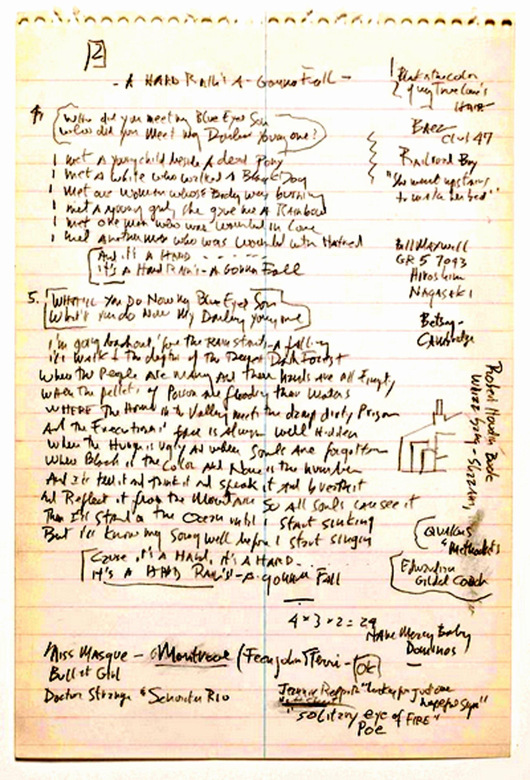 Manuscrito Dylan