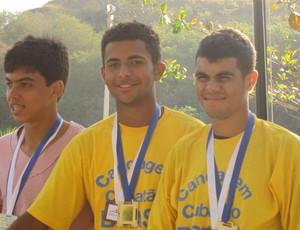 Canoagem Cubatão Robson Ramalho Leandro Freitas (Foto: Christina Lentino / Prefeitura de Cubatão)