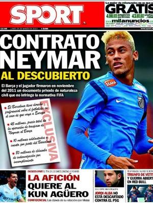 neymar capa sport reprodução (Foto: Reprodução)