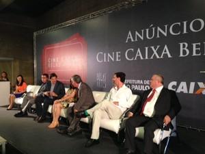 Cerimônia de assinatura de acordo para abrir cinema em São Paulo (Foto: Lívia Machado/G1)