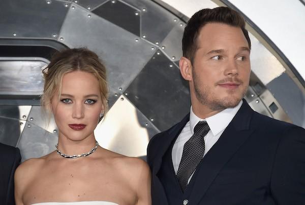 A atriz Jennifer Lawrence e o ator Chris Pratt (Foto: Getty Images)