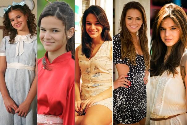 Descubra abaixo de quais novelas são as fotos desta montagem de personagens de Bruna Marquezine (Foto: CEDOC Globo)
