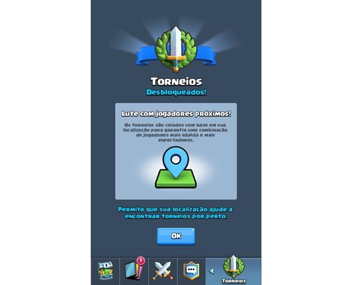 Torneios estão disponíveis a partir do nível 8 (Foto: Reprodução / Supercell)