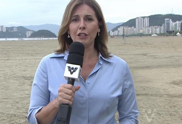 Solange Freitas entra ao vivo no Bom Dia SP (Foto: Reprodução/TV Tribuna)