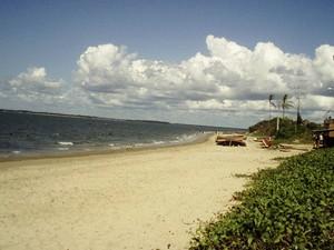 Praia de Tutoia, no Maranhão, indicada pela leitora Mara Coutinho (Foto: Mara Coutinho/VC no G1)