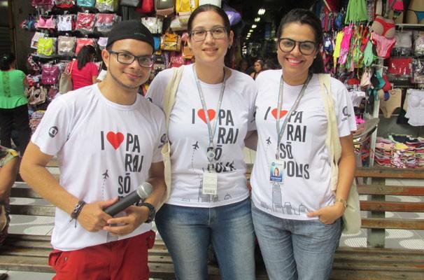 Equipe de Marketing da TV Clube promove o lançamento de 'I Love Paraisópolis' em Teresina. (Foto: André Santos/TV Clube)