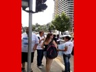 Grupo faz manifestação na Avenida Nove de Julho em Jundiaí