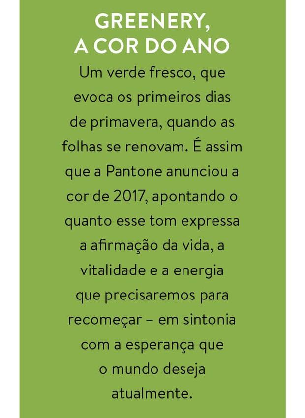 Greenery, a cor do ano  (Foto: Divulgação)