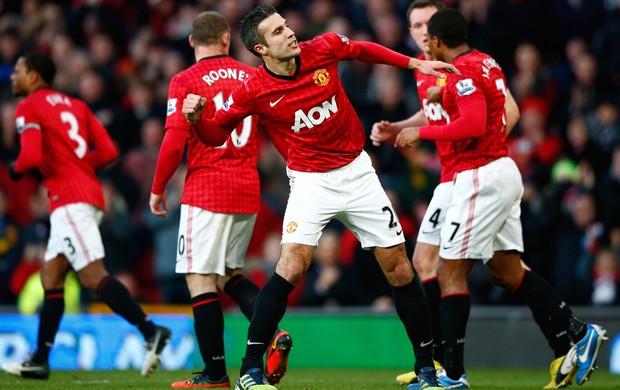van persie Manchester united x Sunderland (Foto: Reuters)