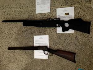 Foram apreendidas também outras armas e munições (Foto: Reprodução/TV Verdes Mares)