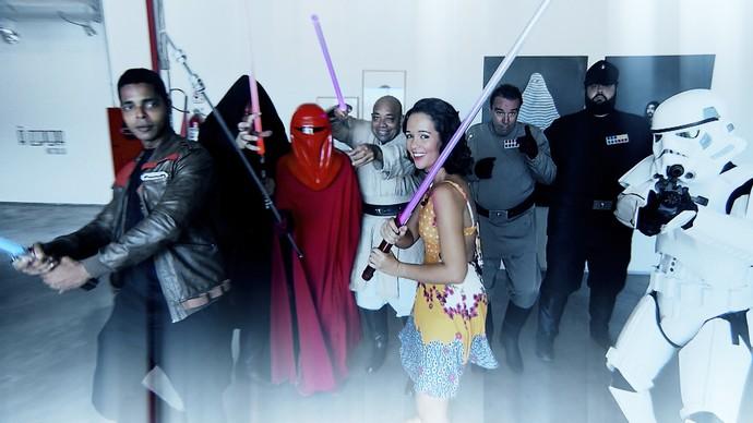 Renata Menezes conhece uma galera nerd que gosta de cosplay (Foto: TV Bahia)