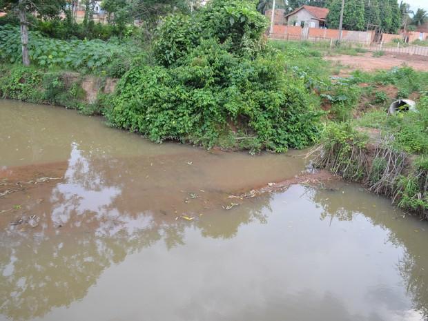 Moradores que moram próximo ao rio Pirarara, em Cacoal, pedem que seja feita a limpeza no local. Prefeitura diz não ter condições. (Foto: Rogério Aderbal/G1)