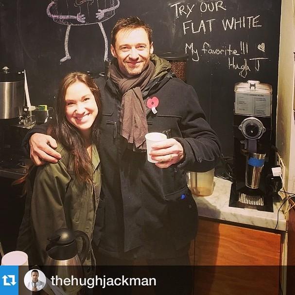 Se você for ao Laughing Man Coffee & Tea, há grandes chances de você encontrar Hugh Jackman por lá (Foto: Instagram/Reprodução)