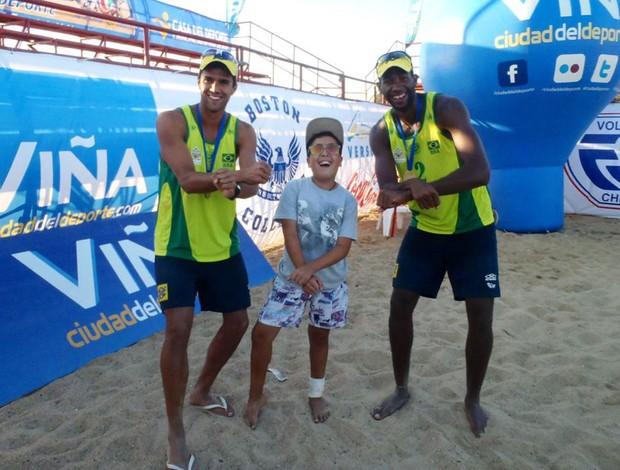 vôlei de praia sul-americano Evandro e Vitor Felipe (Foto: Divulgação)
