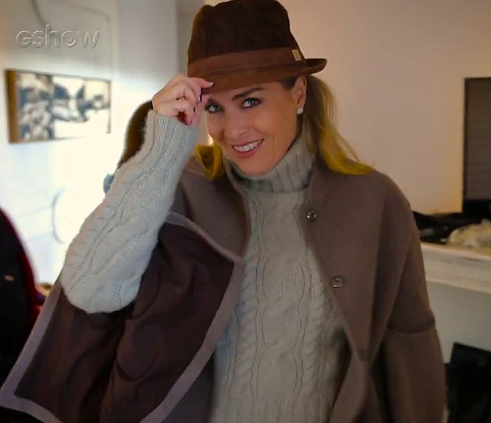 Angélica mostra suas roupas de frio para o 'Estrelas' (Foto: Gshow)