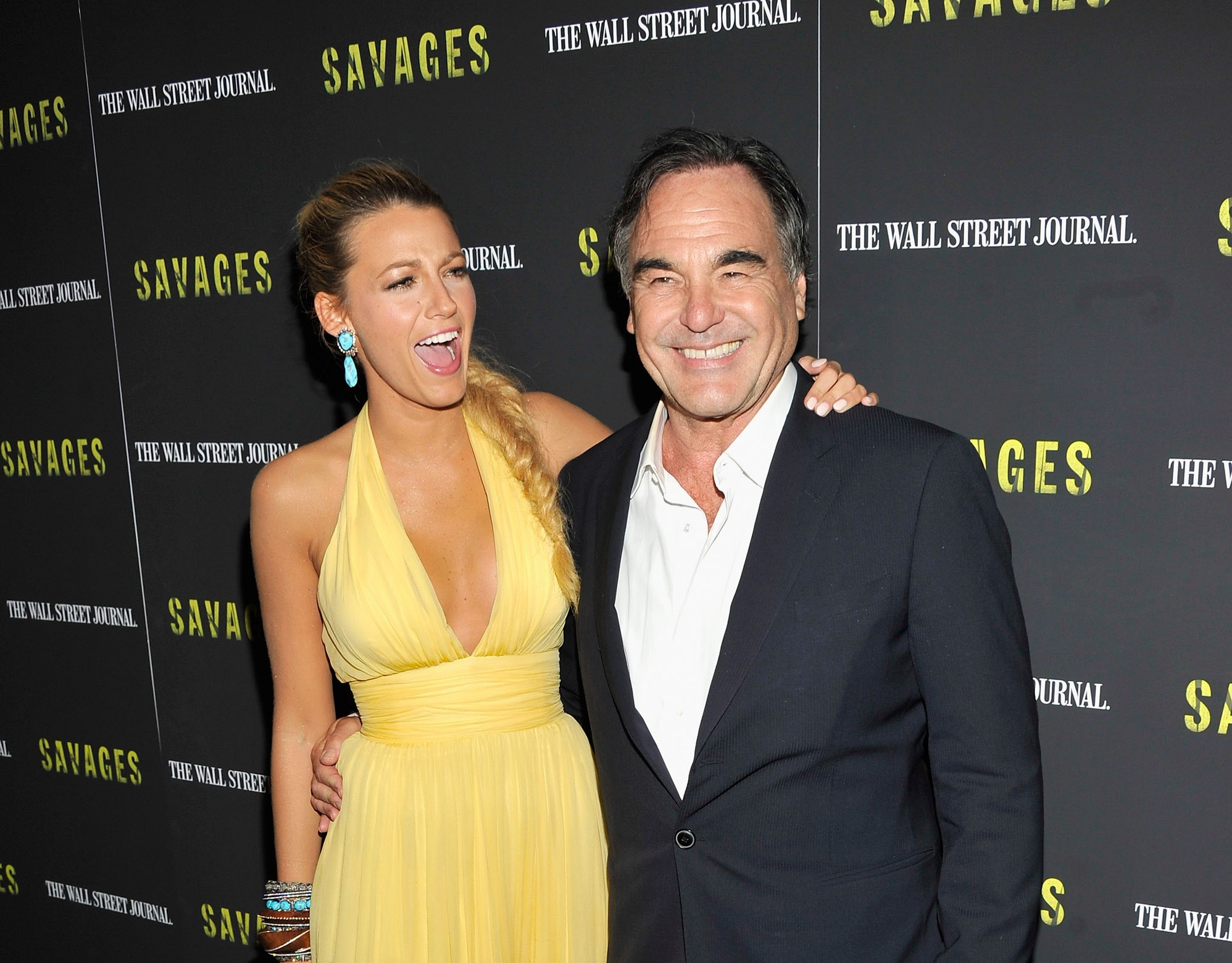 Blake Lively e Oliver Stone (Foto: Getty Images)