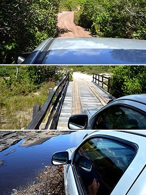 Acesso é feito por trilha que passa por paisagem de vargem (Foto: Maurício Araya / G1)