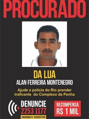Da Lua foi preso pela polícia neste sábado (25) no RJ (Foto: Divulgação/ Disque-Denúncia)