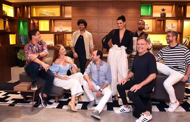 Diógenes de Queiroz, Jesus Luz, Cintia Dicker, Fernanda Motta, Yan Acioli, Paulo Borges e Fernando Torquatto (Foto: Ari Kaye)