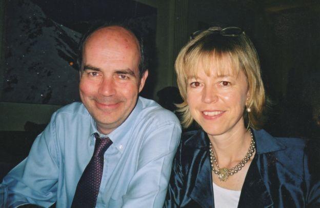 Barbara Want com o marido, Nick Clarke; morte dele impactou saúde dela (Foto: BBC)