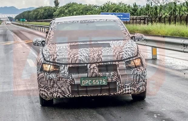 Flagramos o novo Volkswagen Virtus no Brasil (Foto: Autoesporte)