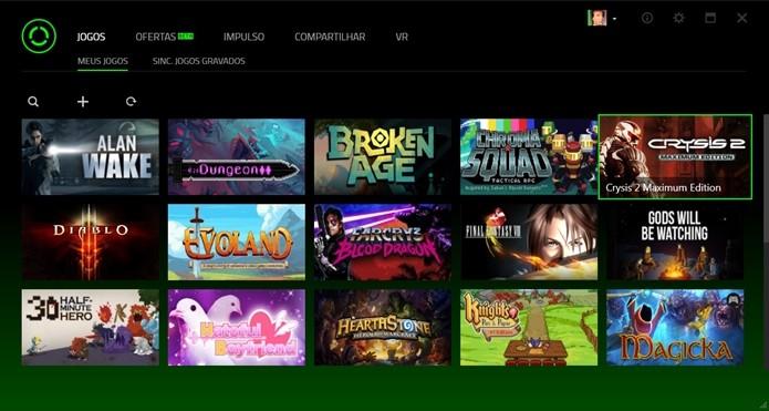 O programa encontra automaticamente os jogos instalados em seu PC (Foto: Reprodução/Cássio Barbosa)