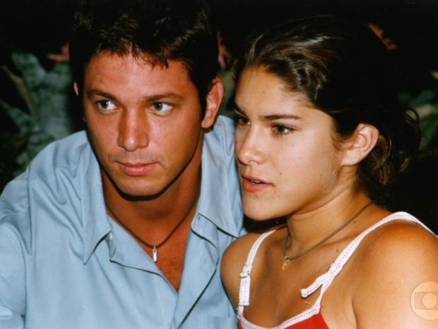 Mário Frias e Priscila Fantin formaram o casal de Malhação em 1999.  (Foto: CEDOC/TV Globo, Nelson Di Rago)
