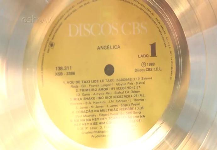 Um dos discos de Angélica (Foto: Gshow)