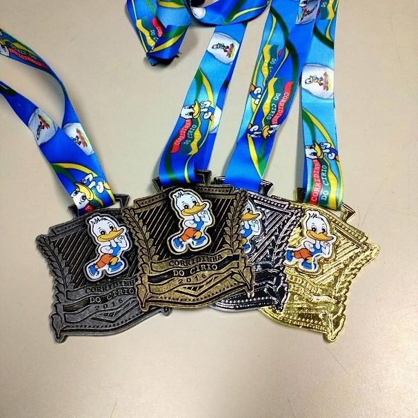 Medalhas da 'Corridinha do Círio' (Foto: Diego Paes)